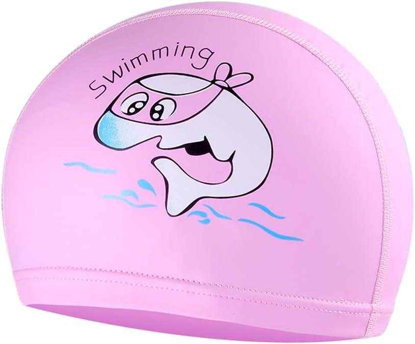 Kids Swim Luxury goods Cap Silicone PU Cute Coating Industry No. 1 Waterproof Swimming Caps