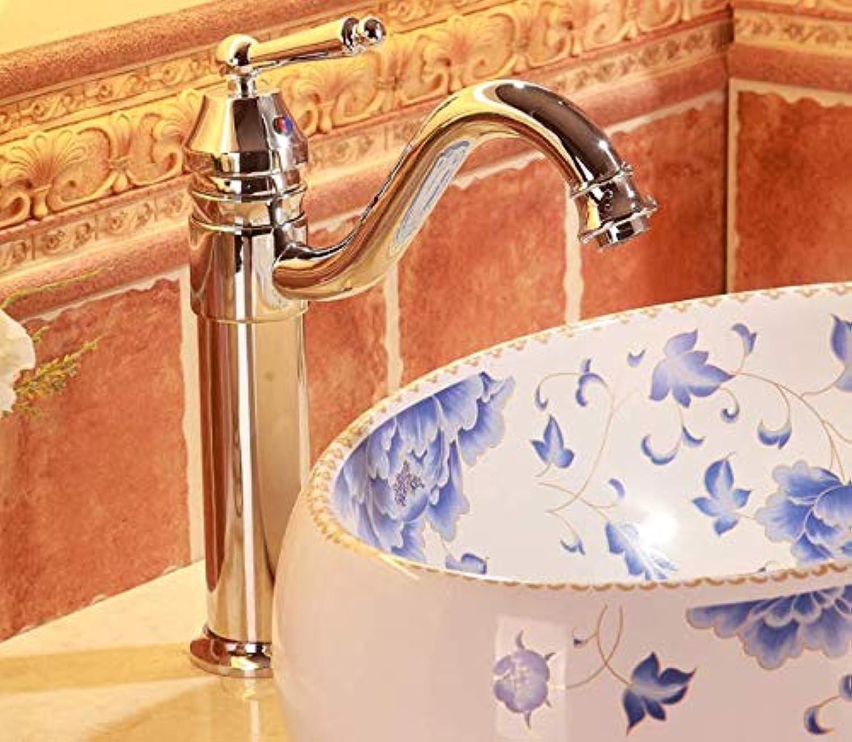 Aufsatzwaschbecken mit warmem und kaltem Wasserhahn Einloch-Einhebel-Waschtischarmatur