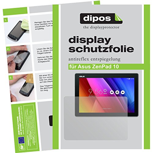 dipos I 2X Schutzfolie matt kompatibel mit Asus ZenPad 10 Folie Bildschirmschutzfolie