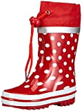 Playshoes Punkte 181767, Bottes fille - Rouge, 24/25 EU