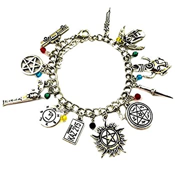 Blingsoul Super Horror Natural Charms Bracelet - Silver Tone Multiple Movie Theme Cosplay Halloween Jewelry For Women