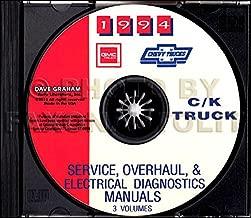 FULLY ILLUSTRATED 1994 CHEVROLET TRUCK & PICKUP FACTORY REPAIR SHOP & SERVICE MANUAL CD Includes C/K Trucks, Silverado, Cheyenne, Suburban, Blazer, Regular, Crew & Extended Cab 1500, 2500, 3500