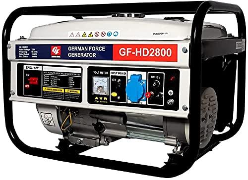 GENERADOR ELECTRICO GASOLINA 2800W POTENCIA 1 ENCHUFE MONOFASICO CORRIENTE 220V 9,5CV...