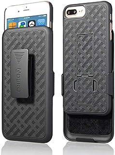 Aduro iphone 8プラス/ iphone 7プラスホルスターケース、コンボシェル&ホルスターケーススーパースリムシェルケース内蔵のappleのiphone 8 plusとiphone 7 plusのキックスタンド+スイベルベルトクリップホルスター/w