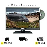 Gelhard GTV-1682 LED DVD 15,6 Zoll 40cm Fernseher Full-HD Wide Screen, DVB-S / S2 -T / T2 12/24 / 230 Volt