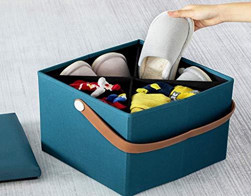 AG Home Stuhl Hocker Klappstuhl-Storage Hocker Ottomane Aufbewahrung Ottomane Bank Klappbare Bank Truhe mit Bezug Spielzeug und Schuh Truhe Fußstütze Hocker Stuhl für Schlafzimmer und Wohnzimmer Otto