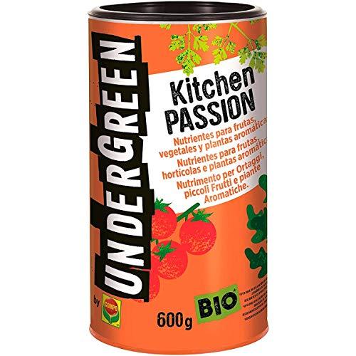 Undergreen Kitchen PASSION Nutrimento per Ortaggi, Piccoli Frutti e Piante Aromatiche, In Pellet, Consentito in Agricoltura Biologica, 600 G