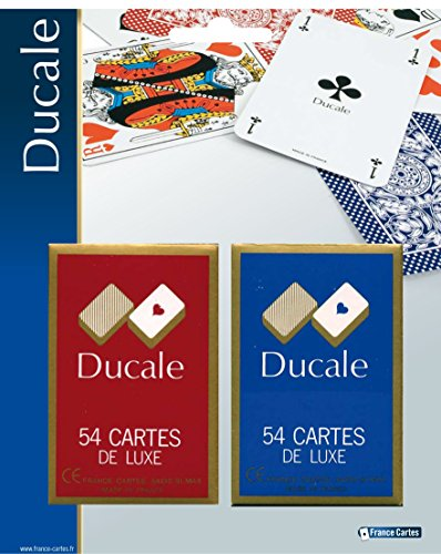 Grimaud- Ducale-Lot 2 Jeux de 54 Cartes à Jouer-Dos Odéon-Ra