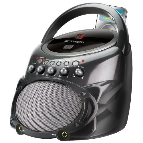 Amazing Deal JS Karaoke Portable CDG System GP298R Music Set, Black