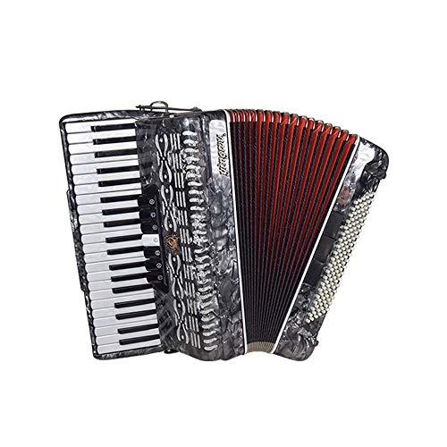 M-zutx Acordeón de piano de 41 teclas, 120 bajos, 3 hileras de primavera Acordeón de instrumentos for adultos 3 Sintonizadores de bajos 7 Sintonizadores de teclado Acordeón con correa y mochila