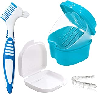 Boîte de rangement pour prothèses,boîte d'immersion pour prothèses,rangement sanitaire,boîte d'orthodontie,2 petites boîte...