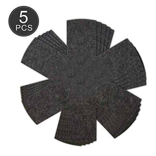 Stapelschutz Pfannenschutz - YeeStone 5er Set Pfannenschoner Topfschutz aus Filz 38cm - für Pfannen, Töpfe und Schüsseln