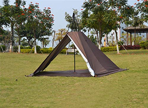 Outdoor Portable Waterproof Camping Pyramid Teepee Tent Pentagonal Adult Tipi Tent with Stove Hole 1