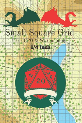 Small Square Grid: for RPG and Wargaming: 1/4 inch square: 6-9