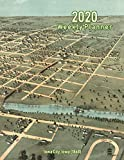 2020 Weekly Planner: Iowa City, Iowa (1868): Vintage Panoramic Map Cover
