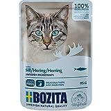 Bozita Pouch Häppchen in Soße mit Hering | 12 x 85g Katzenfutter nass