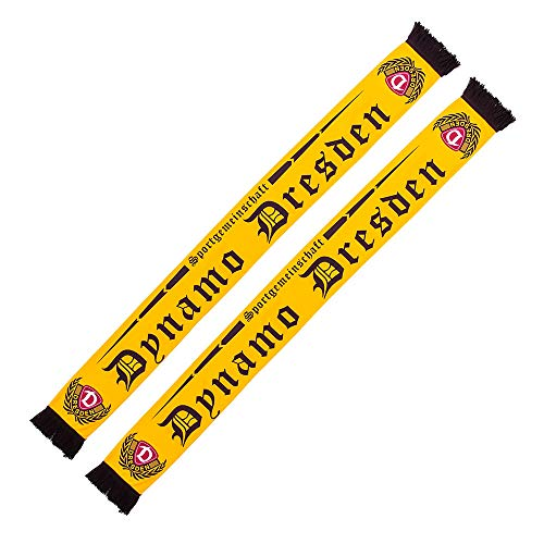 SG Dynamo Dresden Seidenschal Old School gelb