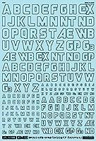 1/100 GM フォントデカール No.2 「ラインシェイプ・アルファベット」ダークグレー