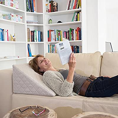 APLICACIÓN> Alivio óptimo para los músculos de la espalda. Excelente para leer o ver televisión. Ideal para personas que necesitan pasar mucho tiempo en cama debido a lesiones o enfermedades. CÓMODO> ¡Los cojines tradicionales pierden su forma con el...