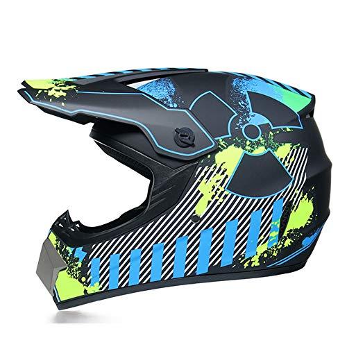 GENGJ Motocross Helmeherren Motorrad Offroad Helm Set Mit...