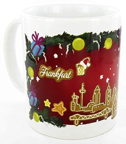die stadtmeister Keramiktasse Weihnachts-Skyline Frankfurt - Weihnachten in Frankfurt