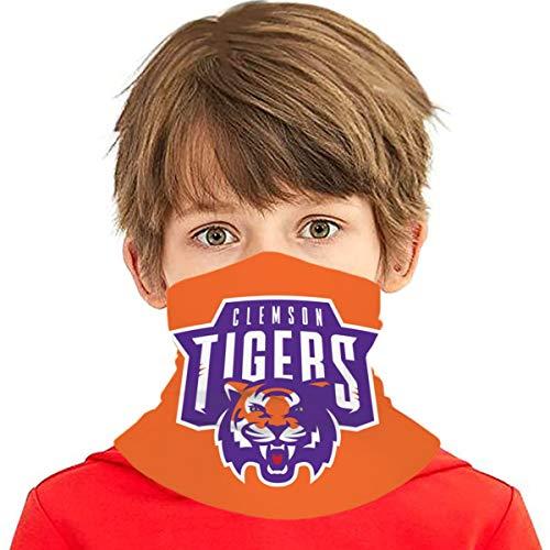 Clemson Tigers Kids Neck Gaiter Summer Bandana Lightweight Face Covering for Boys Girls mask