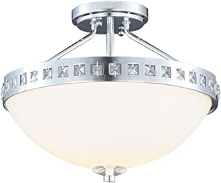 Hampton Bay S352CH02 2 Light-2-Light Chrome Plated Semi-Flush Mount Light