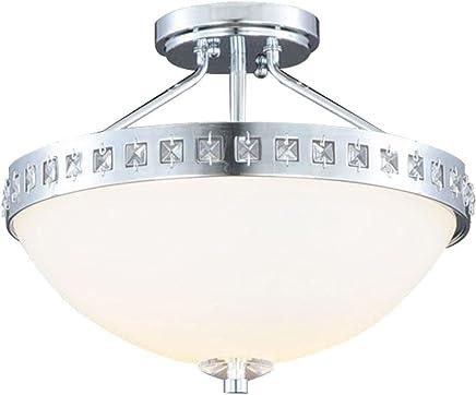 2-lightクロムメッキsemi-flushマウントライト