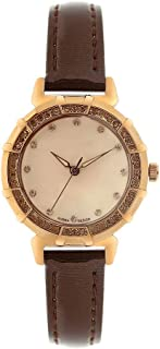 LZRDZSW Women Watches Leather Band Luxury Quartz Watches,Vintage Diamond Watch,Fashion Red Girl Watch,Waterproof Luxury Watches Easy-to-wear Design (Color : Brown)