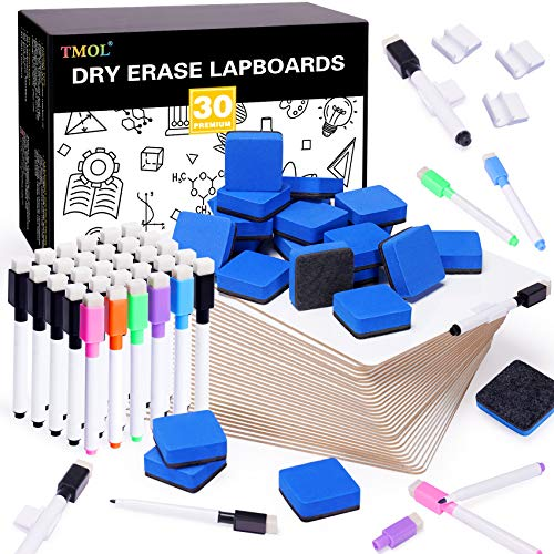 30 Piece Dry Erase Lap Boards Double-Sided for Classroom, 9 x...