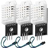 AZDelivery 3 x DHT22 AM2302 Sensor de Temperatura y Humedad con Placa y Cable compatible con Arduino y Raspberry Pi con E-Book incluido!