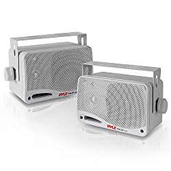 top 10 insignia sound system Waterproof wireless bluetooth speaker for outdoor use – 3.5 inch pair, 3-way active passive weatherproof…