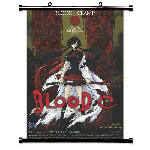 Blood-C Anime Fabric Wall Scroll Poster (16 x 22) Inches