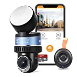 OSBOO Mini Wi-Fi Dash Camera, Android unsupported,Superior 1080P Car Dash Cam,16GB Card Included,Sony Sensor,GPS, Rotated Len Driving Recorder