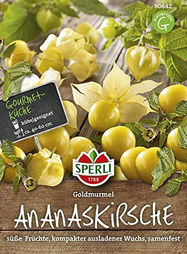 Sperli 80642 Gemüsesamen Ananaskirsche Goldmurmel, grün