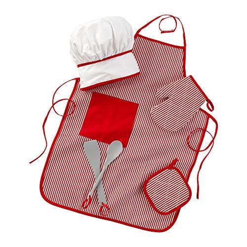 KidKraft Tasty Treats Chef Accessory Set - Red, Standard Packaging