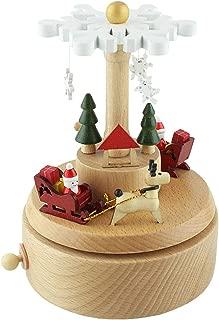 Masa's Custom Navidad Caja de música de Madera Tren pequeño Juguete Decoración Regalo de cumpleaños Amantes Niños