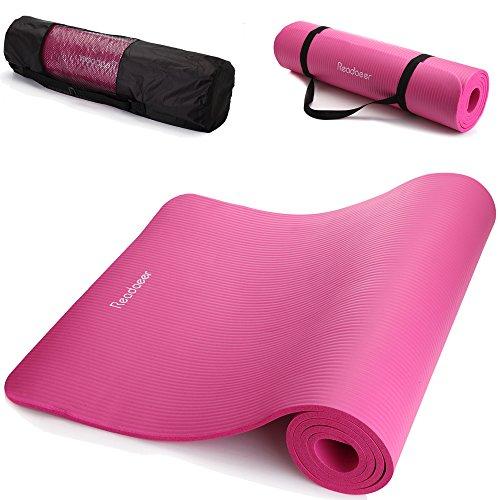 Readaeer® Fitnessmatte Yogini für Gymnastik Yoga Pilates mit Tasche und Tragegurt