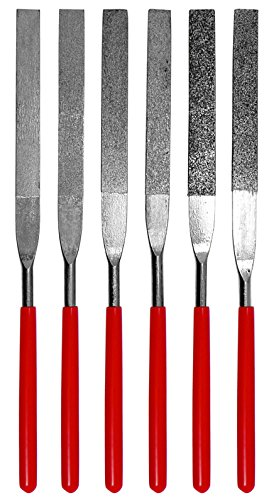 SE Flat Diamond Grit File Set – 6 Pieces