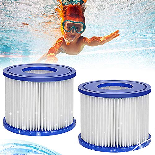 2 Stück Spa-Filter, Ersatz-Filterkartusche MSpa, MSpa Whirlpool Ersatz Filter Filterkartusche für aufblasbare Pools