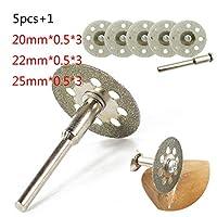 HF-ZEN 丸鋸刃 高速度鋼 ドレメルツールの円形の鋸刃の回転カッターの5 /炭素鋼スリーブは、ドリルロッド木製電気円形のナイフをセット 切削工具 (Outer Diameters : 20mm)