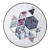 AILI Alfombra de Nylon Transpirable Redonda de la Sala de Estar de la Manera, mesas y sillas de la computadora Estera Caliente (tamaño : 150 * 150cm-b)