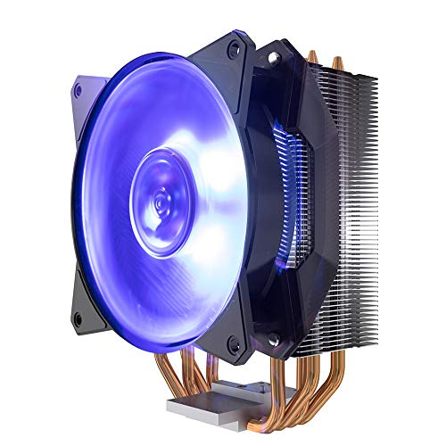 Cooler Master MasterAir MA410P RGB CPU Air Cooler, 4 CDC 2.0 Heatpipes, Aluminum Fins, MF120R RGB...