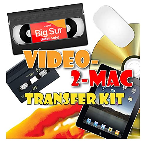 VHS and Camcorder Video Capture Kit. For Mac OSX. Works with Catalina (10.15), Mojave (10.14), High Sierra (10.13), Sierra (10.12), El Capitan (10.11). Includes USB capture hardware, leads and capture software. Links your existing VCR or Camcorder to your Apple Mac. Copy, Convert, Transfer VHS, S-VHS, VHS-C, Hi8, Digital8, Video8, Mini-DV and Betamax. For all iMac, Macbook Pro, Mini and Pro models. Includes video tutorial and digital download link for Macs without DVD drives.
