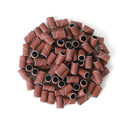 100 pcs schleifhülsen  schleifwalzen für elektrische nagelfeile  schleifkappen nagelfräser  schleifzylinder 180#