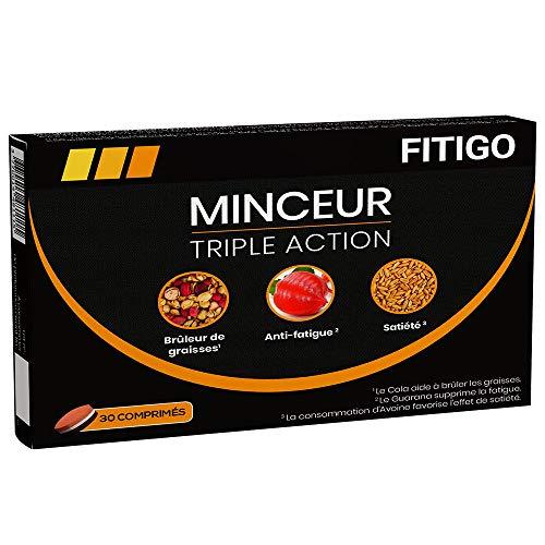 FITIGO - Minceur Triple Action - Complément Alimentaire pour la Perte de Poids – Diététique Idéal pour l'Amaigrissement – 30 Comprimés