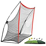 WhiteFang Golf Net Bundle Golf Practice Net 10x7 feet with Golf Chipping Nets Golf Hitting Mat &Golf Balls Packed in Carry Bag for Backyard Driving Indoor Outdoor (Golf Net 3-in-1)