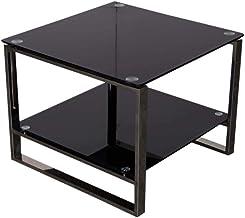 Mahmayi Carre Glass Coffee Table, Black, CAR6538-60CTBL