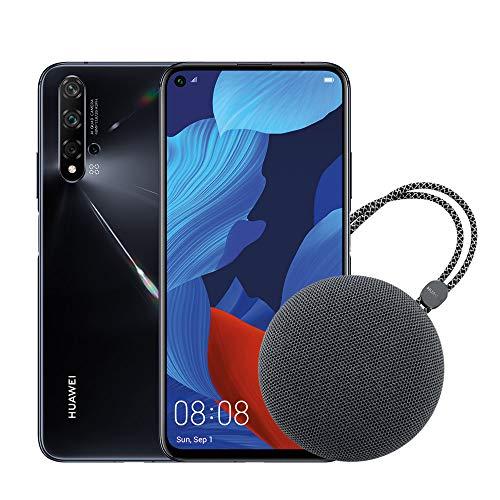 Huawei Nova 5T (Black) Smartphone + Speaker Bluetooth, 128GB+6GB RAM, Fotocamera principale da 48MP, Processore Kirin 980 con Intelligenza Artificiale [Italia]
