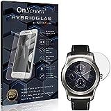 SWIDO OnScreen Schutzfolie Panzerglas kompatibel mit LG Watch Urbane LTE 2nd Edition Panzer-Glas-Folie = biegsames HYBRIDGLAS, Bildschirmschutzfolie, splitterfrei, MATT, Anti-Reflex - entspiegelnd